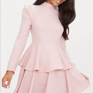 PrettyLittleThing Dresses - Pink high neck skater dress